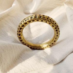 Hammered  brass bangle  bracelet